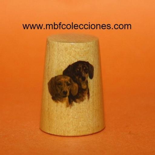DEDAL MADERA CON 2 PERROS RF. 01725