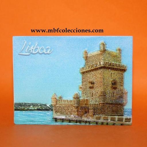 IMÁN LISBOA RESINA RELIEVE 6,50x5 cm. prox. RF. 02443