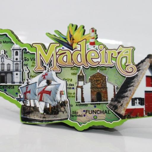 IMÁN MADERA RELIEVE MADEIRA mide 12x6cm. prox. RF. 06752