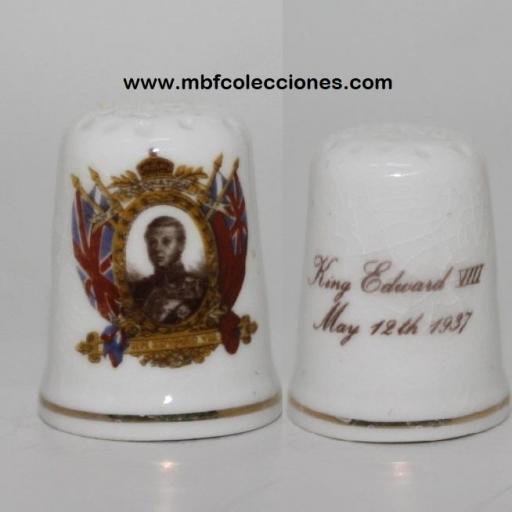 DEDAL KING EDUARD VIII - porcelana antigua RF. 03144