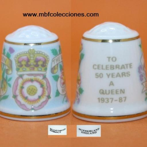 DEDAL TO CELEBRATE 50 YEARS A QUEEN 1937-87 RF. 01295