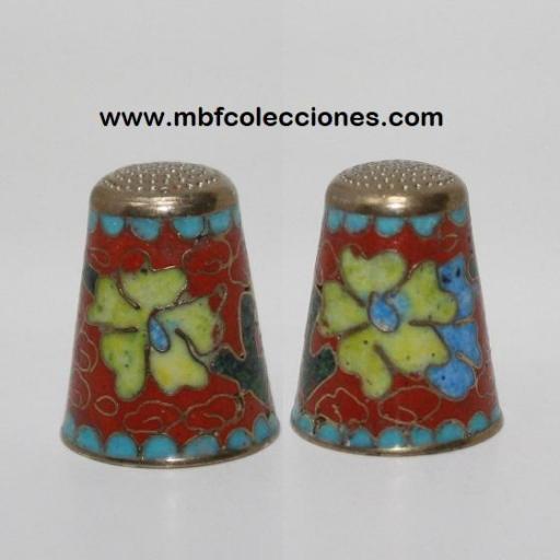 DEDAL METÁLICO Y FLORES RF. 03765