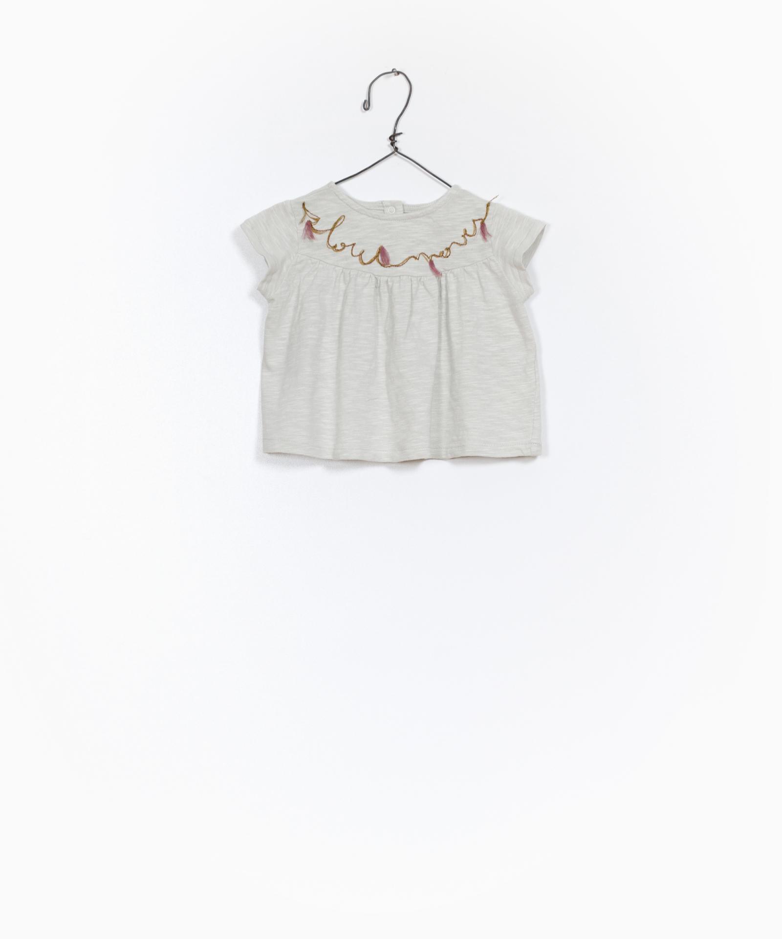 Camiseta de algodón orgánico con detalle bordado Play Up