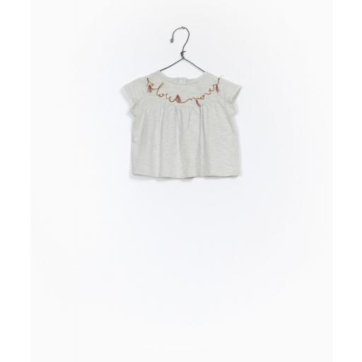 Camiseta de algodón orgánico con detalle bordado Play Up [0]