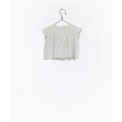 Camiseta de algodón orgánico con detalle bordado Play Up [1]