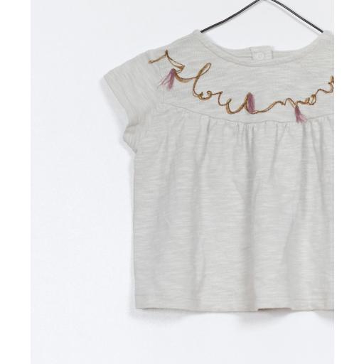 Camiseta de algodón orgánico con detalle bordado Play Up [2]