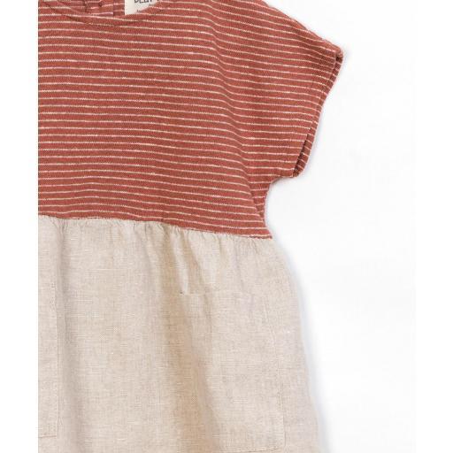 Vestido dos tejidos Play Up [2]