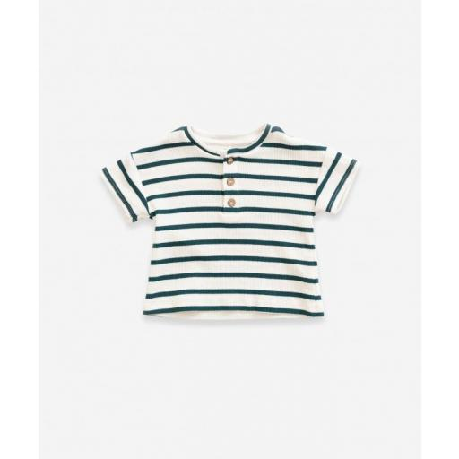 Camiseta de algodón con rayas