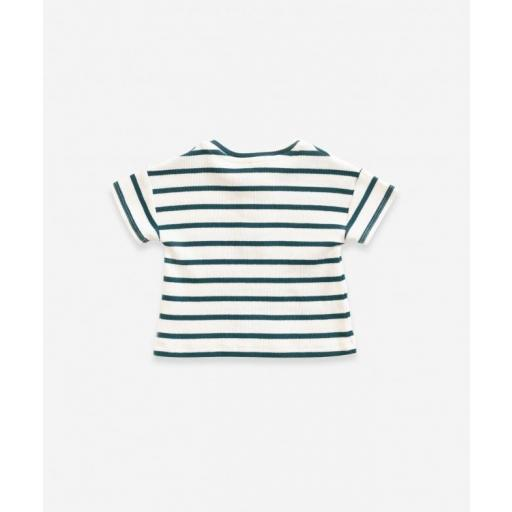 Camiseta de algodón con rayas  [1]