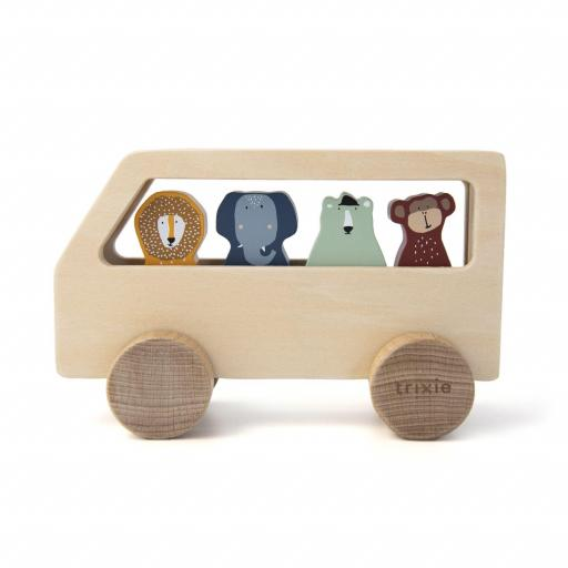 Autobus con animales de madera Trixie