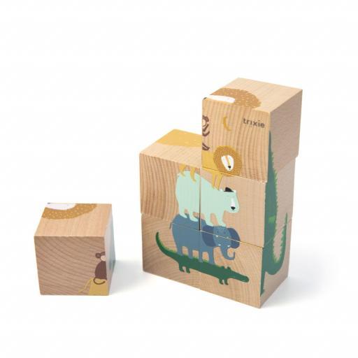Bloques de puzzle de madera Trixie