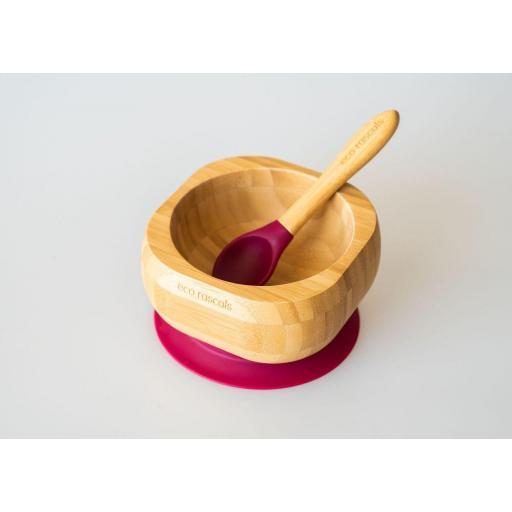 Bol de bambú y cucharilla