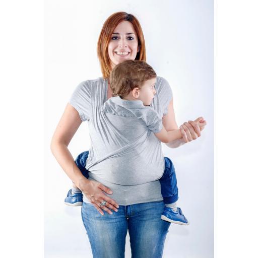 Camiseta portabebé y de embarazo Quokkababy color gris
