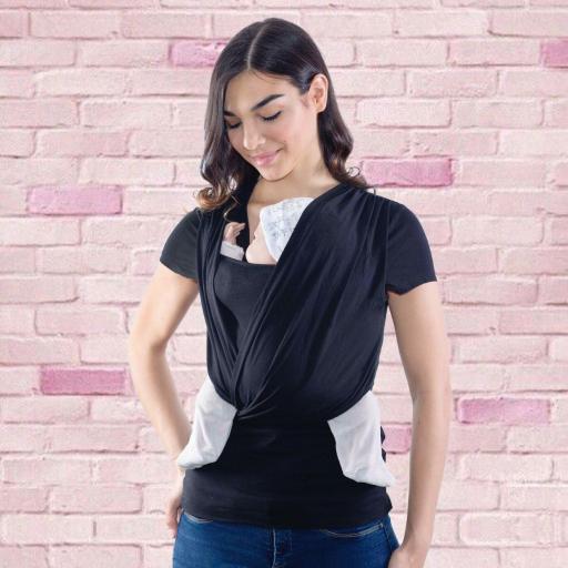 Camiseta portabebé y de embarazo Quokkababy color negra