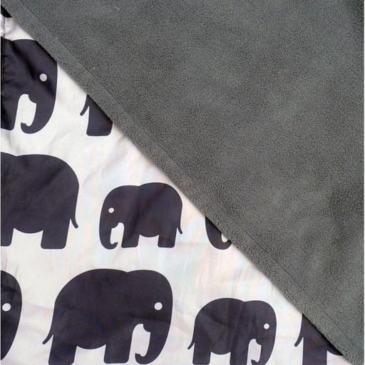 Cobertor Go 5 En 1 Polar Grey Elephants De BundleBean [2]
