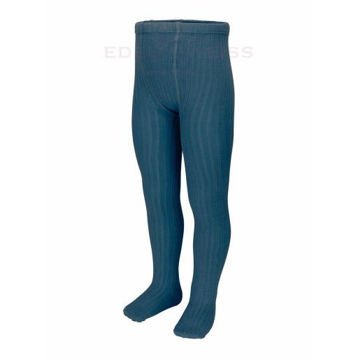Leotardo de punto canalé Cóndor (Color Océano azul)