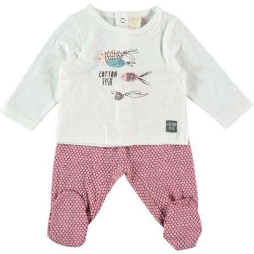 Pijama con pantalón tipo polaina Cotton Fish