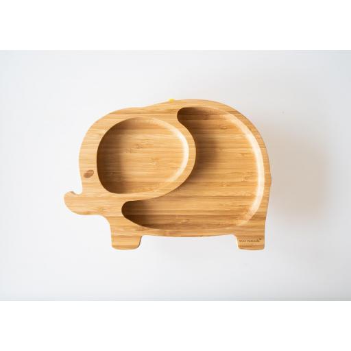 Plato de bambú