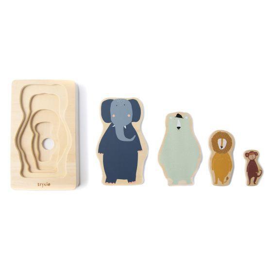 Puzzle de animales de 4 capas Trixie