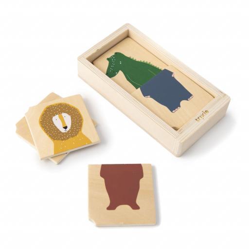 Combo de puzzle animales de madera Trixie