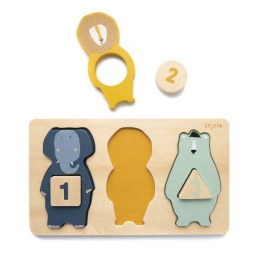 Puzzle de números de madera Trixie  [1]