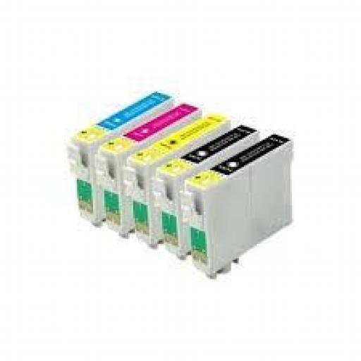 EPSON T0715 MULTIPACK DE 5 cartuchos de tinta alternativos