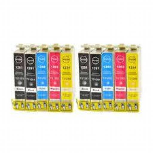 EPSON T1285  PACK DE 10 cartuchos alternativos