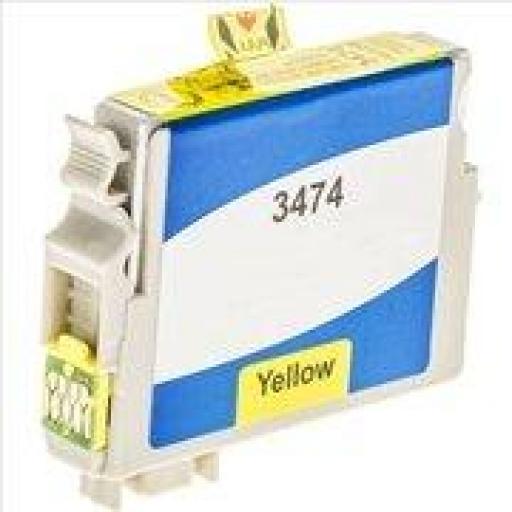 EPSON T3474/T3464 (34XL) AMARILLO CARTUCHO DE TINTA GENERICO C13T34744010/C13T34644010