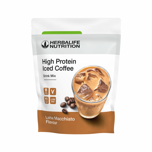 High Protein Iced Coffee Latte Macchiato Herbalife  [0]
