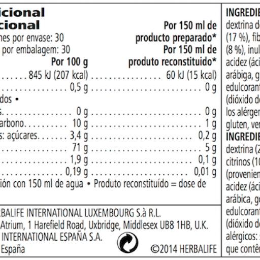 Bebida con Avena, Manzana y Fibra Herbalife- Sin azúcar [2]