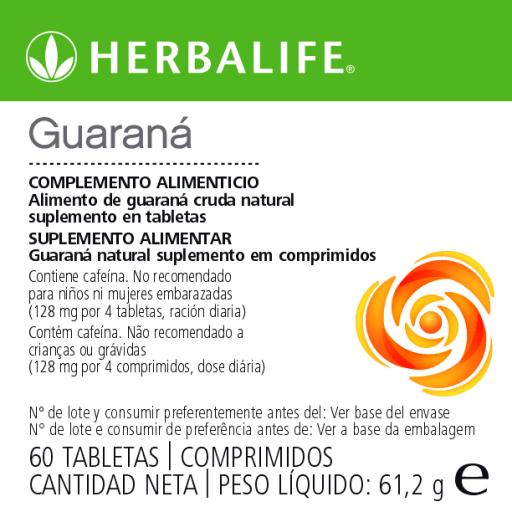 Tabletas de Guaraná Herbalife [1]