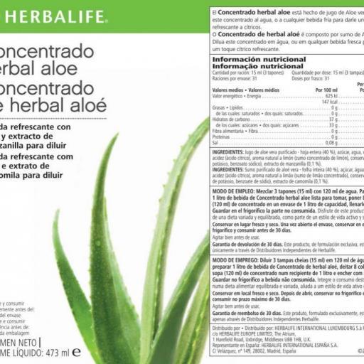 Concentrado Herbal Aloe Herbalife [1]