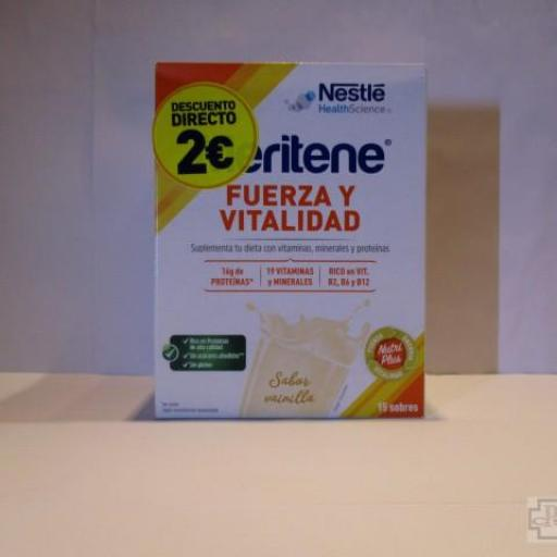 MERITENE FUERZA Y VITALIDAD BATIDO SABOR VAINILLA 15 SOBRES