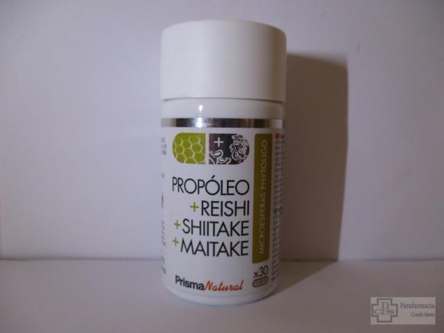 PROPÓLEO+REISHI+SHIITAKE+MAITAKE PRISMA NATURAL 30 CÁPSULAS