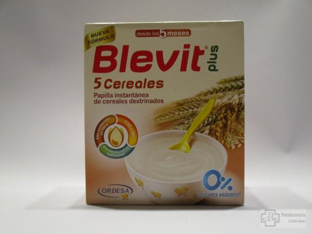 BLEVIT PLUS 5 CEREALES PAPILLA INSTANTANEA 600 GR.