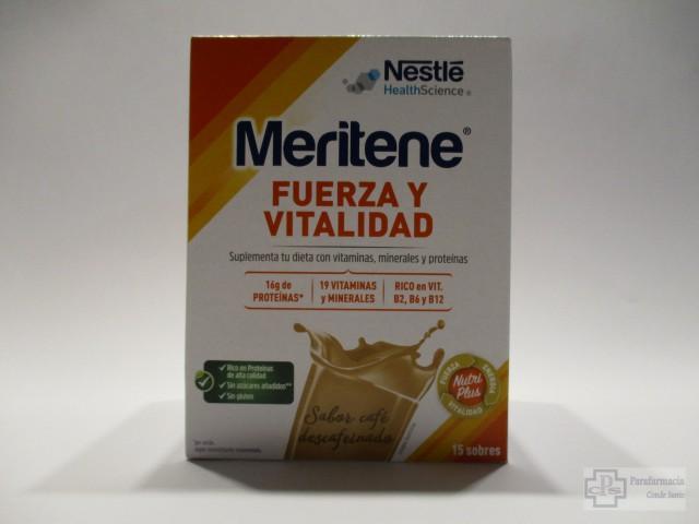MERITENE FUERZA Y VITALIDAD SABOR CAFE DESCAFEINADO 15 SOBRES