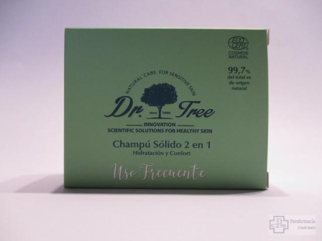 CHAMPU SOLIDO 2 EN 1 USO FRECUENTE DR. TREE 75 GR.