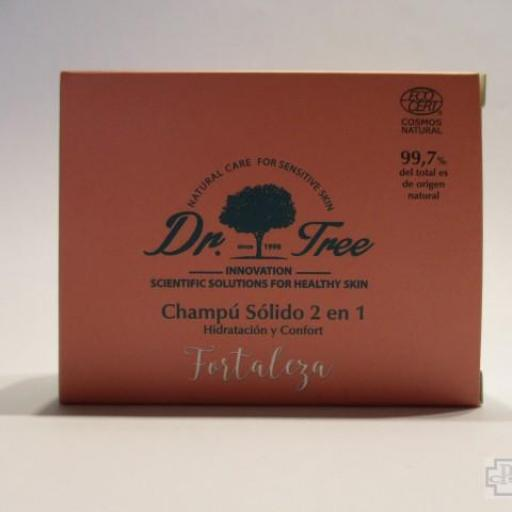 CHAMPU SOLIDO 2 EN 1 FORTALEZA DR. TREE 75 GR.