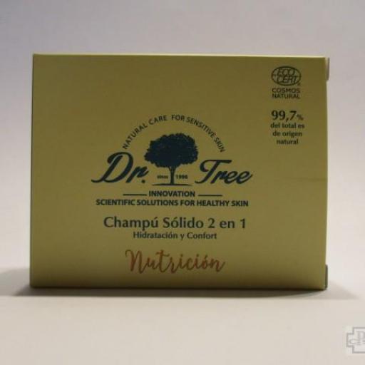 CHAMPU SOLIDO 2 EN 1 NUTRICION DR. TREE 75 GR.