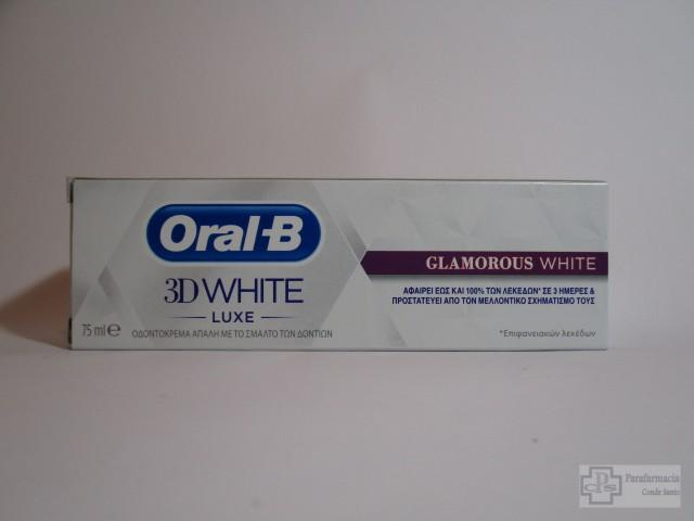 ORAL B 3D WHITE LUXE BRILLO SEDUCTOR PASTA DENTIFRICA 75 ML