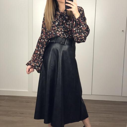 Falda larga polipiel [0]