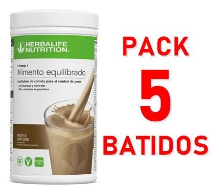 Pack 5 Batidos Fórmula 1
