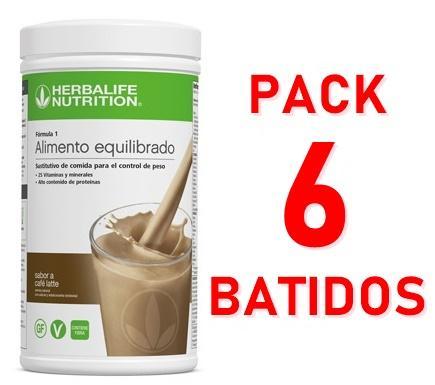 Pack 6 Batidos Fórmula 1