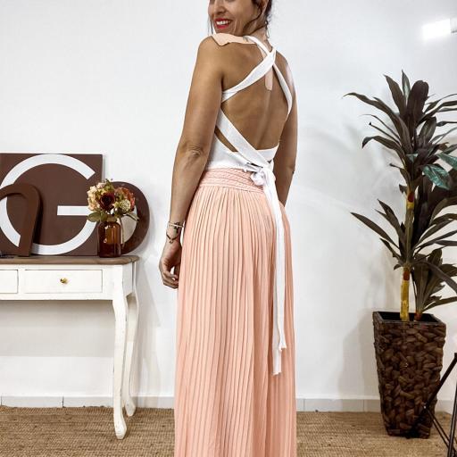 Top back Blanco