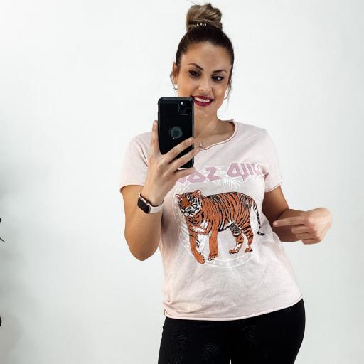 Camiseta TIGER Rosa
