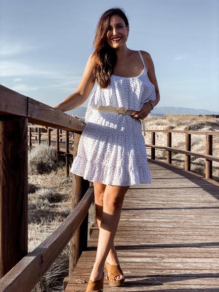 Falda CARLTON Blanca