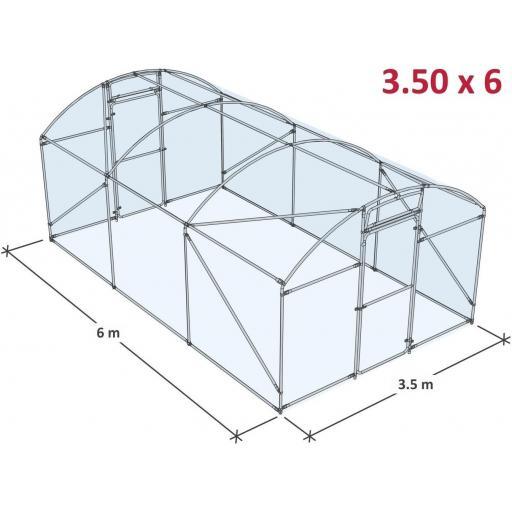 INVERNADERO DE JARDÍN 3,5×6 M.