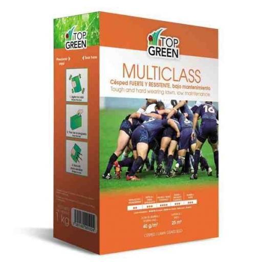 Semilla césped multiclass deportivo top green caja 1 kg.