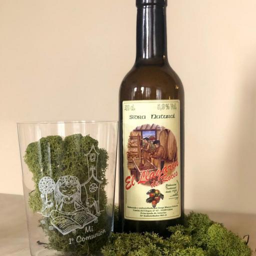Vaso de Sidra Niña Comunión con Botella de Sidra Natural Llagarín [0]