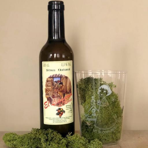 Vaso de Sidra Niña Comunión con Botella de Sidra Natural Llagarín
